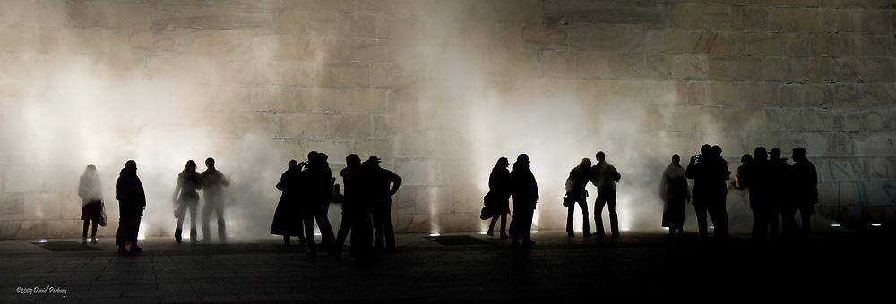 silhouettes stem at the Washington monument
