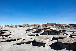 The Bisti Badlands landscape in New Mexico