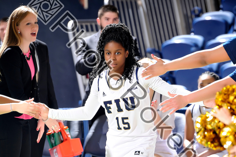 2016 February 04 - FIU's Kristian Hudson (15). <br /> Florida International University defeated UAB, at FIU Arena, Miami, Florida. (Photo by: Alex J. Hernandez / photobokeh.com) This image is copyright by PhotoBokeh.com and may not be reproduced or retransmitted without express written consent of PhotoBokeh.com. ©2016 PhotoBokeh.com - All Rights Reserved