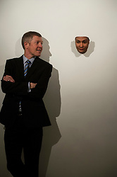 Pictured: Wullie Rennie was facinated by 3d face masks made from DND picked up from the likes of discarded chewing gum.<br /> <br /> Scottish Liberal Democrat leader Willie Rennie  set out plans for a digital revolution in the way that children learn at schools during a visit to the Edinburgh Science Festival at Summerhall, Edinburgh, today <br /> <br /> Ger Harley | EEm 6 April 2016