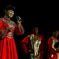Liu Jia performs the Dragonboat meoldy during the lunar new year gala program organized by the Confucius Institute of ELTE University in Budapest, Hungary on February 16, 2011. ATTILA VOLGYI