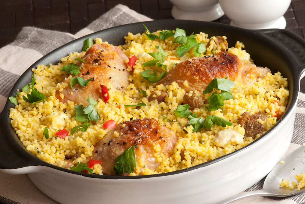 Grilled Chicken Thighs With Moroccan Couscous And Herbs