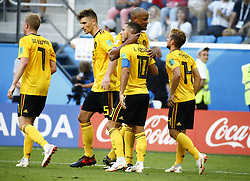 July 14, 2018 - Saint Petersbourg, Russie - SAINT PETERSBURG, RUSSIA - JULY 14 : Eden Hazard midfielder of Belgium & Vincent Kompany defender of Belgium  during the FIFA 2018 World Cup Russia Play-off for third place match between Belgium and England at the Saint Petersburg Stadium on July 14, 2018 in Saint Petersburg, Russia, 14/07/18 (Credit Image: © Panoramic via ZUMA Press)