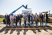 SRM host their Groundbreaking Cereomy for the South Main Senior Living center in Milpitas, California, on March 23, 2018. (Stan Olszewski/SOSKIphoto)