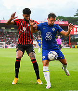 Philip Billing (29) of AFC Bournemouth battles for possession with Danny Drinkwater (6) of Chelsea during the Pre-Season Friendly match between Bournemouth and Chelsea at the Vitality Stadium, Bournemouth, England on 27 July 2021.