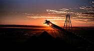 Stock pile of iron ore in the Pilbara region of Western Australia.