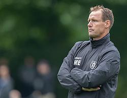 Cheftræner Morten Eskesen (FC Helsingør) under kampen i Sydbank Pokalen, 1. runde, mellem Bispebjerg Boldklub og FC Helsingør den 2. september 2020 i Lersø Parken (Foto: Claus Birch).