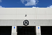 General overall view of the Mamba Sports Academy logo, Thursday, March 26, 2020, in Thousand Oaks, Calif. Kobe Bryant and daughter Gianna Bryant, were heading to the sports complex when on Sunday, January 26, 2020, they were among the people killed in a helicopter crash when a Sikorsky S-76B helicopter, piloted by Ara Zobayan, crashed around 30 miles northwest of downtown Los Angeles, en route from John Wayne Airport to Camarillo Airport.