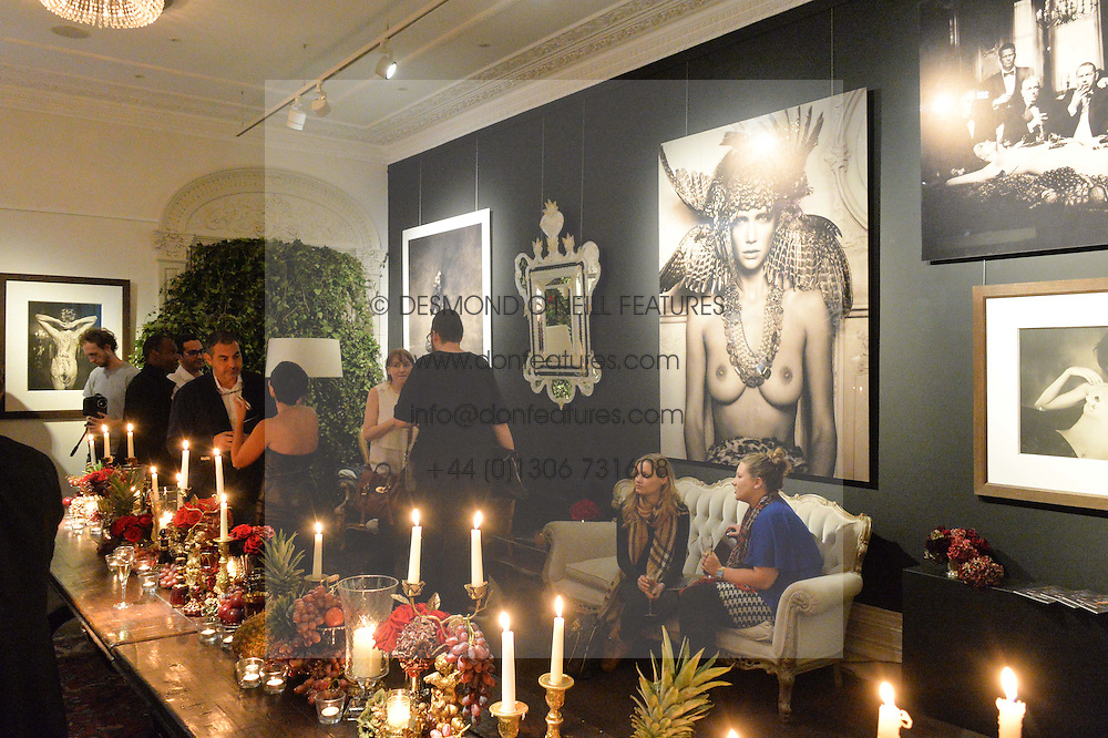 View at a private view of photographs by Marc Lagrange at Heist, 43 Linden Gardens, London on 2nd October 2014.