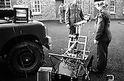 At Clancy Barracks, Dublin, the Irish Army  displays its newly acquired Remote Control Vehicle to be used for bomb disposal.<br />