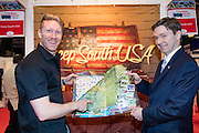 27/1/16 US Chargé d'affaires Reece Smyth Deep South USA Stand at the Holiday World Show 2017 at the RDS Simmonscourt in Dublin. Picture: Arthur Carron