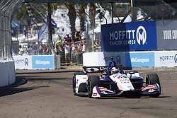 March 11, 2018 - St. Petersburg, Florida, United States of America - March 11, 2018 - St. Petersburg, Florida, USA: Graham Rahal (15) battles for position during the Firestone Grand Prix of St. Petersburg at Streets of St. Petersburg in St. Petersburg, Florida. (Credit Image: © Justin R. Noe Asp Inc/ASP via ZUMA Wire)