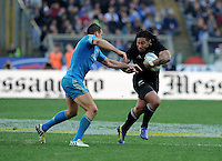Rome, Italy -In the photo Ma'a Nonu opposed by Parisse during .Olympic stadium in Rome Rugby test match Cariparma.Italy vs New Zealand (All Blacks). (Credit Image: © Gilberto Carbonari).