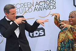 January 27, 2019 - Los Angeles, California, U.S - CARLOS PONCE AND LUENELL during silver carpet arrivals for the 25th Annual Screen Actors Guild Awards, held at The Shrine Expo Hall. (Credit Image: © Kevin Sullivan via ZUMA Wire)