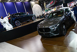 "November 7, 2018 - SãO Paulo, Brazil - SÃO PAULO, SP - 07.11.2018: SALÃO INTERNACIONAL DO AUTOMÃ""VEL SP 2018 - Maserati, launches its supersport version of its SUV, the Levante Trofeo. The International Automobile Show of São Paulo, the largest exhibition of the automotive industry in Brazil and one of the largest in Latin America, begins this Thursday (08) at the São Paulo Expo, in the south zone of the city of São Paulo. The event takes place every two years in the city of São Paulo, with the aim of showing the latest developments in the automotive world, exposing cars, equipment and accessories. (Credit Image: © Aloisio Mauricio/Fotoarena via ZUMA Press)"