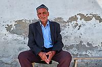 Tadjikistan, Asie centrale, Monts Fan, la vallée du Yagnob, portrait d'un homme Tadjik // Tajikistan, Central Asia, Fann Mountains, Yagnob valley, Tajik man portrait