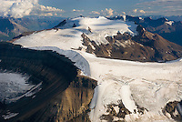 Aerial view of Nizina Mountain, Wrangell-St. Elias National Park Alaska