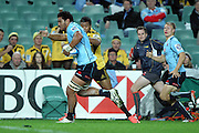 Sitaleki Timani. Waratahs v Hurricanes. 2012 Super Rugby round 15 match. Allianz Stadium, Sydney Australia on Saturday 2 June 2012. Photo: Clay Cross / photosport.co.nz