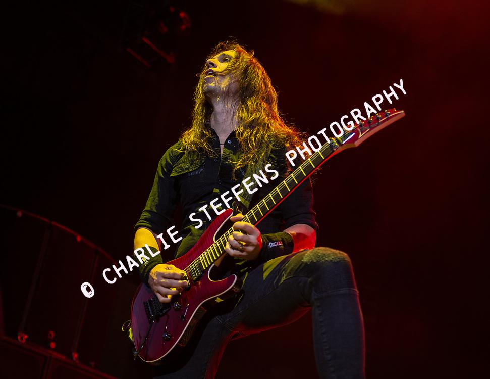 KIKO LOUREIRO of Megadeth at Ozzfest Meets Knotfest 2016 at San Manuel Amphitheater in San Bernardino, California