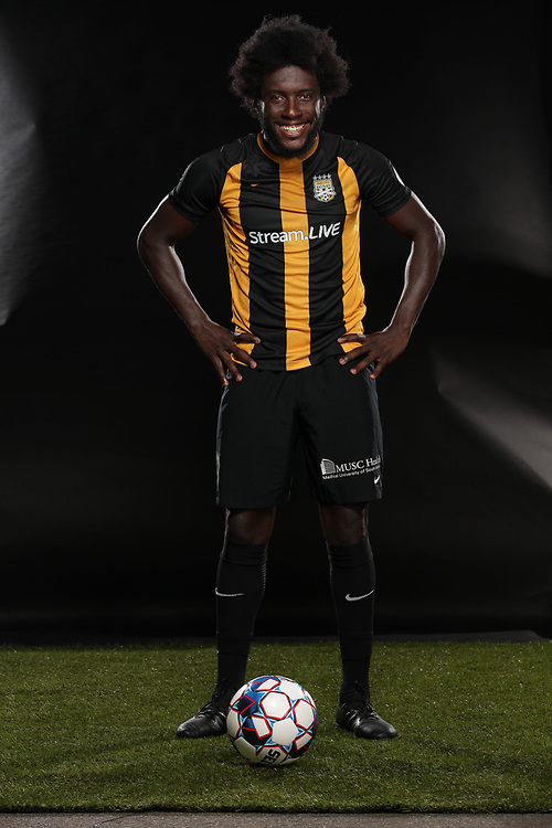 Neveal Hacksaw (8)<br /> Media Day, Home Kits, Charleston Battery at MUSC Health Stadium in Charleston, S.C. on Tuesday, June 19, 2018.<br /> Zach Bland/Charleston Battery