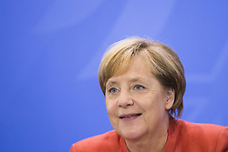 September 4, 2017 - Berlin, Germany - German Chancellor Angela Merkel is pictured during a news conference after a meeting between the Government with federal states and municipalities regarding improvements to air quality in the cities at the Chancellery in Berlin, Germany on September 4, 2017. (Credit Image: © Emmanuele Contini/NurPhoto via ZUMA Press)