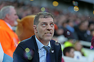 West Ham United manager Slaven Bilic looks up to the sky before k/o. The Emirates FA cup, 3rd round match, West Ham Utd v Wolverhampton Wanderers at the Boleyn Ground, Upton Park  in London on Saturday 9th January 2016.<br /> pic by John Patrick Fletcher, Andrew Orchard sports photography.