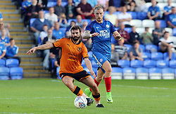 Marcus Maddison of Peterborough United in action with Jack Price of Wolverhampton Wanderers - Mandatory by-line: Joe Dent/JMP - 25/07/2017 - FOOTBALL - ABAX Stadium - Peterborough, England - Peterborough United v Wolverhampton Wanderers - Pre-season friendly