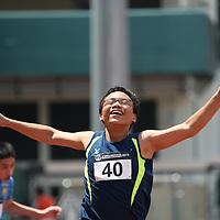 A Boys 100m