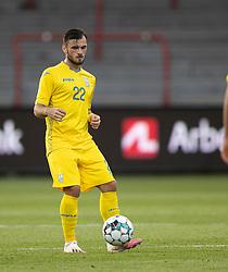 Serhiy Buletsa (Ukraine) under U21 EM2021 Kvalifikationskampen mellem Danmark og Ukraine den 4. september 2020 på Aalborg Stadion (Foto: Claus Birch).
