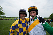 Sights from the 2013 Queens Cup Steeplechase - April 27, 2013: Ross Geraghty and Darren Nagle