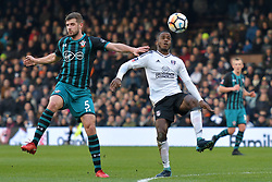 January 6, 2018 - Fulham, England, United Kingdom - Southampton's Jack Stephens heads away from Fulham defender Ryan Sessegnon during FA Cup 3rd Round match between Fulham against Southampton  at Craven Cottage Stadium, London England on 06 Jan 2018. (Credit Image: © Kieran Galvin/NurPhoto via ZUMA Press)