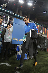 September 28, 2017 - Saint-Petersburg - Of The Russian Federation. Saint-Petersburg. Zenit-arena. Arena Saint-Petersburg. Match Of The UEFA Europa League. Zenit beat real Sociedad with the score 3:1 in the match of UEFA Europa League. Player..Artem Dzyuba. (Credit Image: © Russian Look via ZUMA Wire)