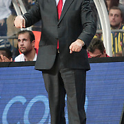 Olympiacos's coach Dusan Ivkovic during their Euroleague Basketball Game 7 match Fenerbahce Ulker between Olympiacos at Sinan Erdem Arena in Istanbul, Turkey, Thursday, December 01, 2011. Photo by TURKPIX
