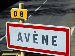 April 18, 2018 - Avene   Avene, France   France - Avene   Avene  (34) hérault entrée du village 18/04/2018 (Credit Image: © GéRard Houin/Belga via ZUMA Press)