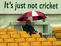 Rain delays play at the Cricinfo County Championship match between Leicestershire and Glamorgan at Grace Road, Leicester.