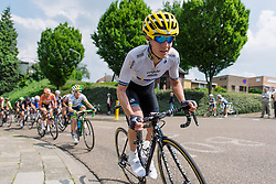 Emma Johansson attempts to bridge to the race leaders at Boels Hills Classic 2016. A 131km road race from Sittard to Berg en Terblijt, Netherlands on 27th May 2016.