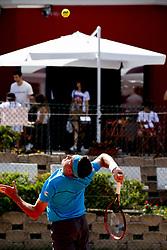 June 16, 2018 - L'Aquila, Italy - Liam Caruana during match between Joao Pedro Sorgi (BRA) and Liam Caruana (ITA) during day 1 at the Interzionali di Tennis Citt dell'Aquila (ATP Challenger L'Aquila) in L'Aquila, Italy, on June 16, 2018. (Credit Image: © Manuel Romano/NurPhoto via ZUMA Press)