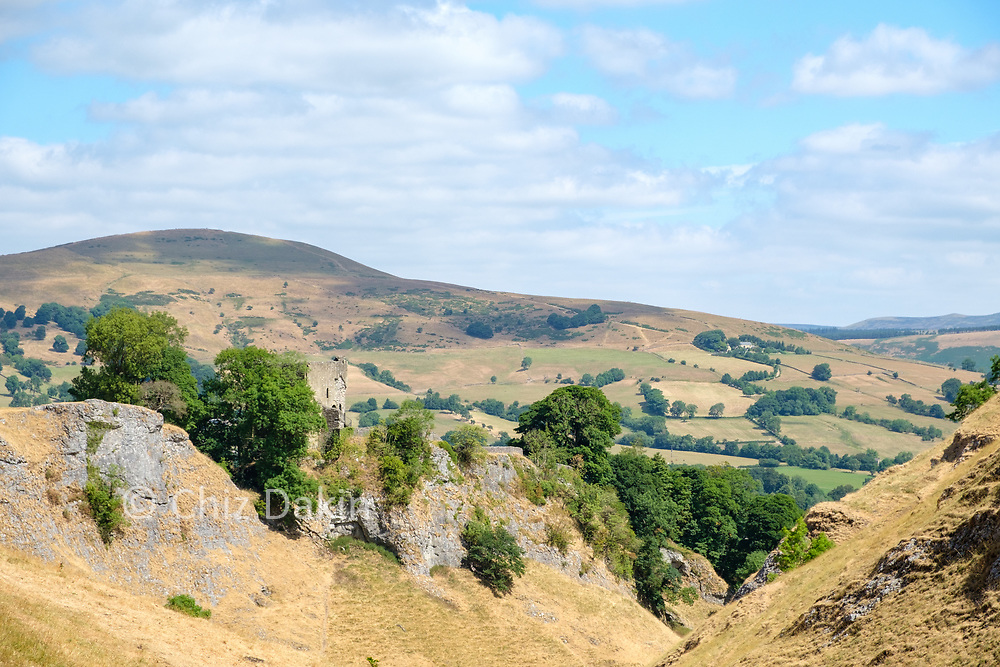 Peveril Castle with Lose HIll in the background
