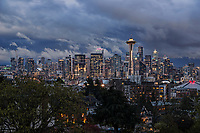 Seattle Skyline, Stormy Weather
