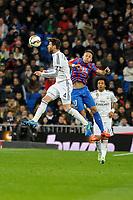 Real Madrid´s Sergio Ramos and Levante UD´s Jordi Xumetra Feliu during 2014-15 La Liga match between Real Madrid and Levante UD at Santiago Bernabeu stadium in Madrid, Spain. March 15, 2015. (ALTERPHOTOS/Luis Fernandez)