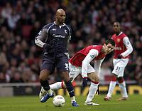 Photo: Olly Greenwood.<br />Arsenal v Bolton Wanderers. The FA Cup. 28/01/2007. Bolton's Nicolas Anelka and Arsenal's Cesc Fabregas