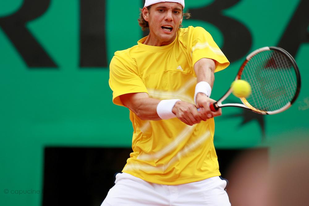 Roland Garros. Paris, France. June 3rd 2006..Paul-Henri Mathieu against Rafael Nadal.