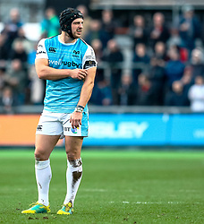 Dan Evans of Ospreys<br /> <br /> Photographer Simon King/Replay Images<br /> <br /> Guinness PRO14 Round 12 - Dragons v Ospreys - Sunday 30th December 2018 - Rodney Parade - Newport<br /> <br /> World Copyright © Replay Images . All rights reserved. info@replayimages.co.uk - http://replayimages.co.uk
