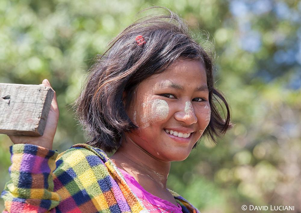 Girl posing along Lemro River between Pain Ming and Sain Sai Kyaw Village.