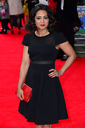 Parminder Nagra arrives for the world premiere of Postman Pat at Leicester Square, London, United Kingdom. Sunday, 11th May 2014. Picture by Nils Jorgensen / i-Images