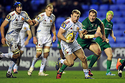 Matt Jess of Exeter Chiefs takes on the London Irish defence - Photo mandatory by-line: Patrick Khachfe/JMP - Mobile: 07966 386802 11/01/2015 - SPORT - RUGBY UNION - Reading - Madejski Stadium - London Irish v Exeter Chiefs - Aviva Premiership
