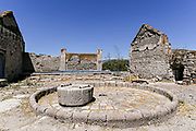 The ruins of a palenque for making Mezcal at the fading Hacienda de Jaral de Berrio in Jaral de Berrios, Guanajuato, Mexico. The abandoned Jaral de Berrio hacienda was once the largest in Mexico and housed over 6,000 people on the property and is credited with creating Mescal.