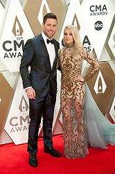 Nov.13, 2019 - Nashville, Tennessee; USA - CARRIE UNDERWOOD  arrives at the 53rd Annual CMA Awards that took place at the Bridgestone Arena located in downtown Nashville.  Copyright 2019 Jason Moore. (Credit Image: © Jason Moore/ZUMA Wire)