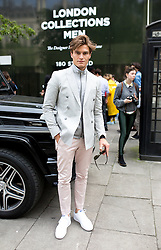 © Licensed to London News Pictures. 10/06/2016. London, UK. Oliver Cheshire arrives at the opening for London Collections Men at 180 The Strand. Photo credit : Tom Nicholson/LNP