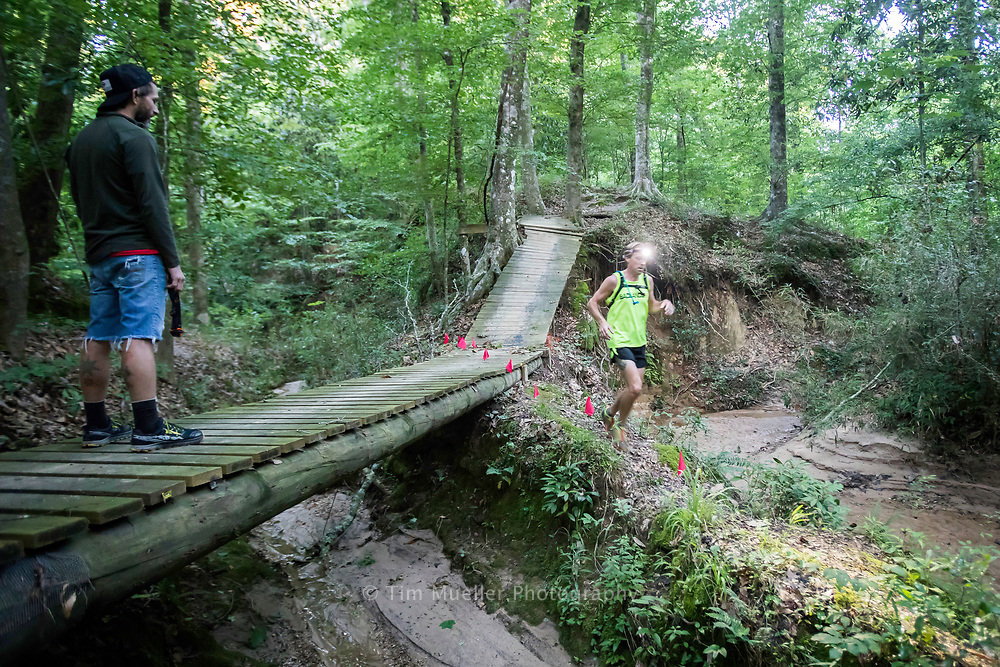 Runners navigate the escalator as they run the West Feliciana Park Trail Saturday, May 6, 2017 during the Beast for a Day race at the West Feliciana Parks and Recreation Complex in St. Francisville, La. The Beast of the Day race includes a 12 hour ultra, 5.62 miler and a 6 hour and 3 hour race along the trail.